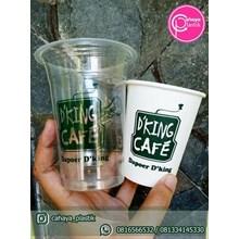 Sablon Paper Cup 8 oz dan Sablon cup plastik 16 oz