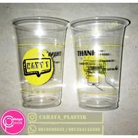 Sablon Gelas Plastik 16 oz 7 gram (2 warna) 1