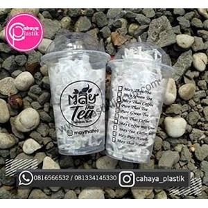 Sablon Gelas Plastik 16 oz 8 gram gelas thai tea