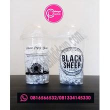 Sablon Gelas Plastik 16 oz 8 g