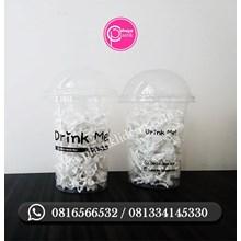 Sablon Gelas Plastik 14 oz 4 gram sablon 2 sisi