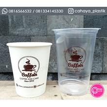 Sablon Gelas Plastik  mix 16 oz 8 gram paper cup 12 oz hot