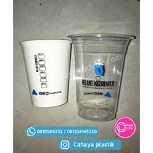 Sablon Gelas Plastik 14 oz 6 gram mix paper cup 8 oz