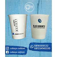 Sablon 2 warna Paper Cup 8 oz packaging food grade