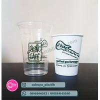 Sablon Paper Cup 8 oz Mix Cup Plastik 14 oz 6 gram