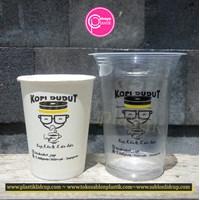 Sablon kemasan komplit Paper Cup 8 oz dan Cup Plastik 14 oz