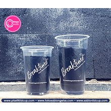 Sablon Gelas Plastik cup mix 16 oz 8 gram dan cup 22 oz starindo