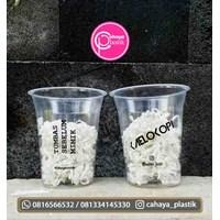 Sablon gelas plastik minuman 12 oz 8 gram tanpa tutup  1