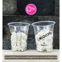 Jual Sablon gelas plastik minuman 12 oz 8 gram tanpa tutup  2