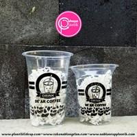 Sablon gelas plastik minuman 12 oz 6 gram  1