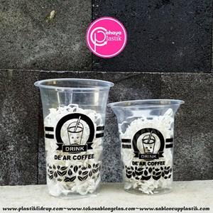 Sablon gelas plastik minuman 12 oz 6 gram