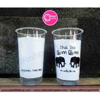 Sablon Gelas Plastik cup plastik 22 oz starindo tanpa tutup  1