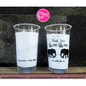 Sablon Gelas Plastik cup plastik 22 oz starindo tanpa tutup