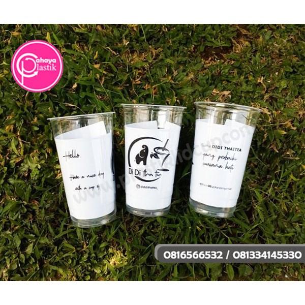 Sablon custom cup 22 oz starindo (CUP JUMBO THAI TEA)