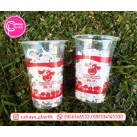 Sablon full melingkar cup 16 oz 7 gram tanpa tutup