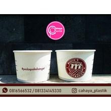Sablon full melingkar paper bowl 17 oz