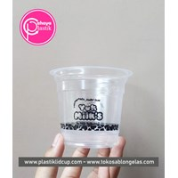 Sablon full melingkar gelas plastik 10 oz