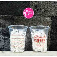 Sablon cup plastik 12 oz 8 gram tanpa tutup
