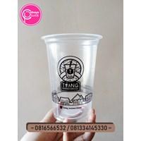 Sablon gelas plastik 16 oz 8 gram tanpa tutup