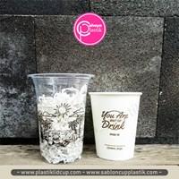 Sablon cup 14 oz 6 gram dan 8 oz paper cup