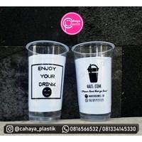 Sablon custom gelas plastik  22 oz starindo tanpa tutup (cup jumbo)