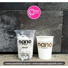 Sablon Paper cup 8 oz dan cup plastik 14 oz 6 gram
