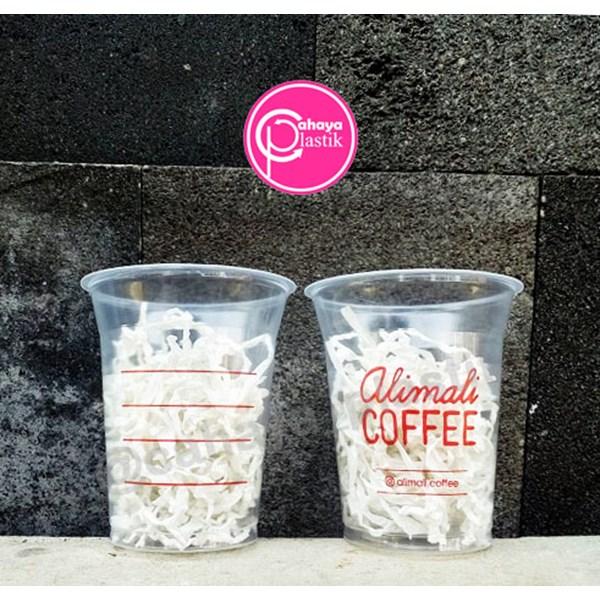 Sablon cup plastik 12 oz 8 gram PP (coffee cup)