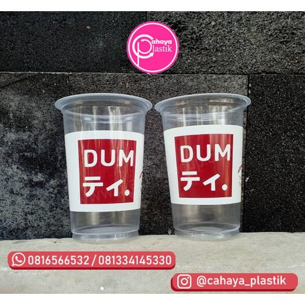 Sablon 2 warna cup 16 oz 8 gram tanpa tutup