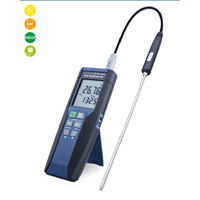 Precision Digital Handheld Measuring Device With Pt100 With Data Logging Function Type 13760