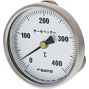 Sk Sato - Bimetal Thermometer for Surface Temperature w/ magnet (0 to 400°C)