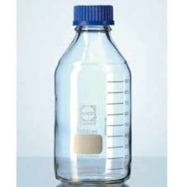 Duran LABORATORY BOTTLES  with DIN thread - graduated - PP screw cap - PP pouring ring  ISO 4796 CLEAR