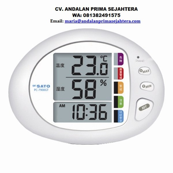 skSATO Thermohygrometer with Heat Stress meter Model PC-7900GT