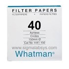 Whatman Filter Paper Grade No 40 1