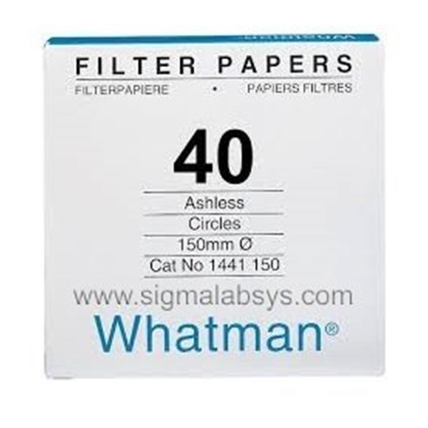 Whatman Filter Paper Grade No 40