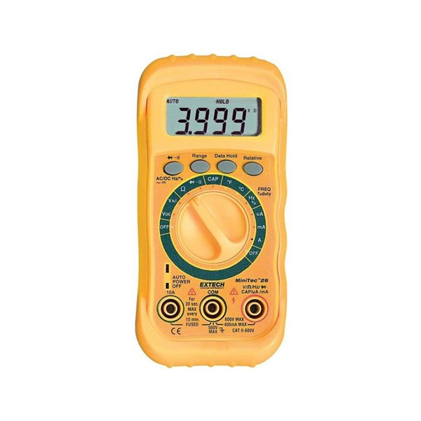 Extech MN26T MiniTec Autoranging MultiMeter with 11 Functions
