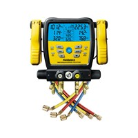 Fieldpiece SM480V - Four Port Wireless SMAN Manifold with Micron Gauge and Yellow Jacket 22985 Hoses