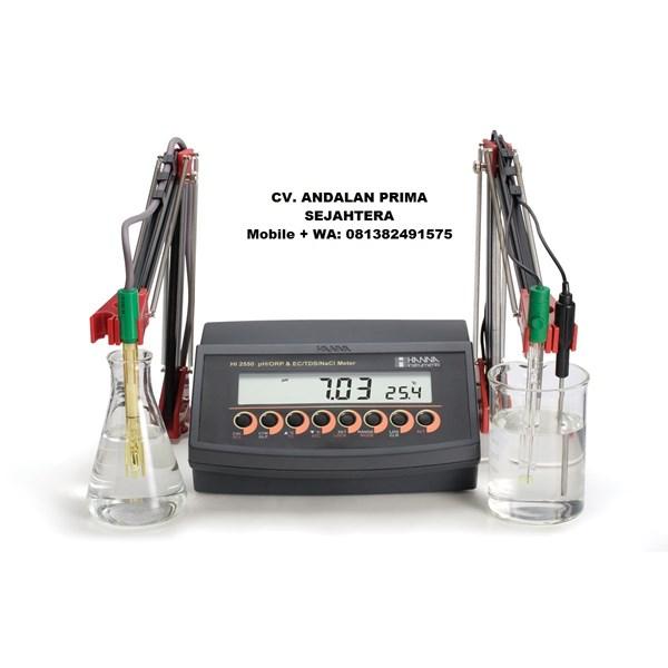 HANNA HI2550 pH/ ORP/ ISE/ EC/ TDS/ NaCl Benchtop Meter