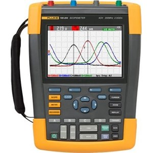 Dari Fluke 190-504/AM/S Color ScopeMeter 500 MHz, 4 channels with SCC-290 kit included 0