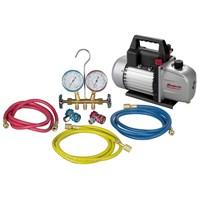 Robin Air Vacuum Pump With R134A Manifold Combo Kit