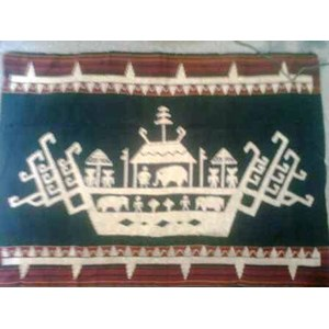 Ships Motif Tapestry Fabric