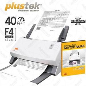 Plustek Scanner Faktur Pajak Ps406u+Sofw.