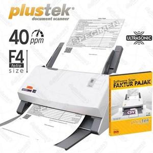 Plustek Scanner Faktur Pajak Ps4080u-40Ppm-Ultrasonic