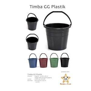 Timba Italy 3 Galon Gagang Plastik Hitam