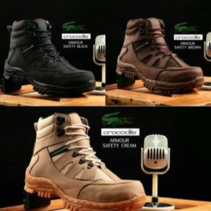 Sepatu Safety Boots Crocodile Amor