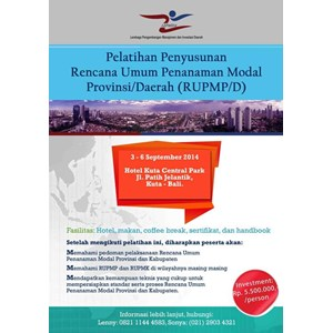 Training Rencana Umum Penanaman Modal Daerah By Lembaga Lepmida