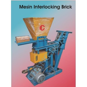 Mesin Cetak Bata Interlocking Brick