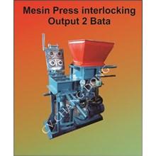 Mesin Press Interlocking Brick Output 2 Bata