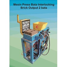 Mesin Bata Press Interlocking Output 2 Bata