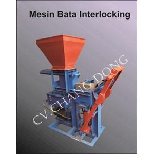 Mesin cetak bata Press Interlocking
