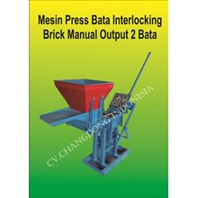 Mesin Cetak Bata Interlocking Brick Manual Output 2 Bata